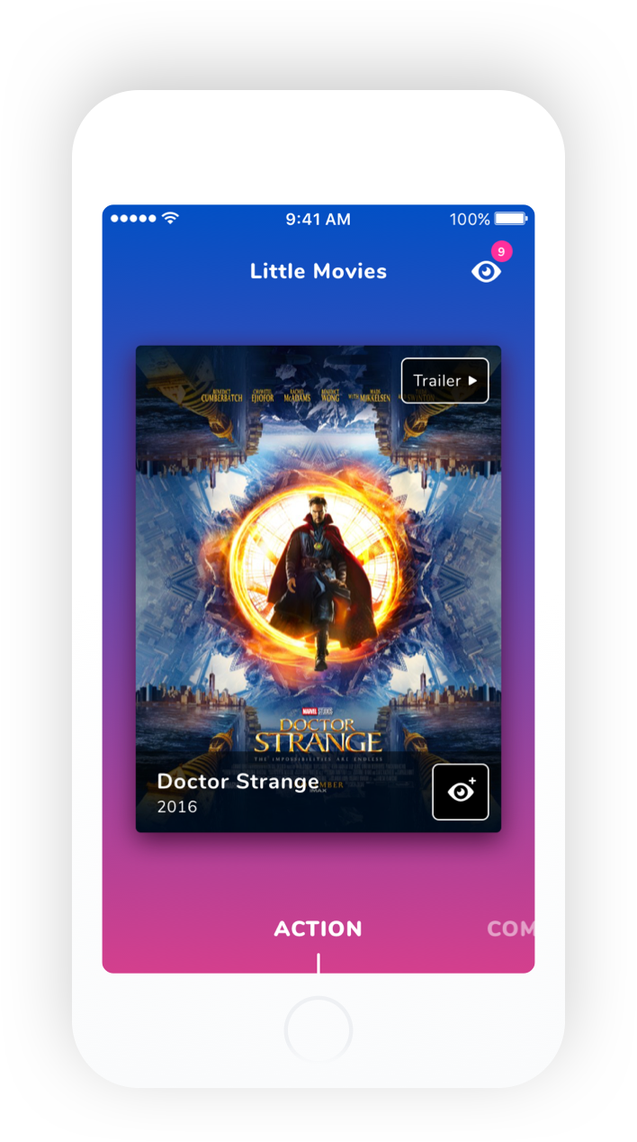 Little Movies iOS movie suggestion mockup