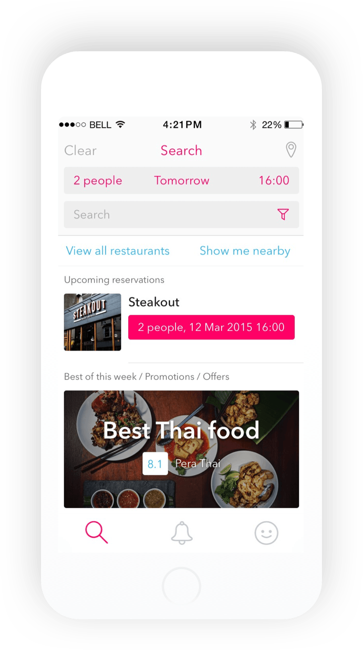 Reztoran iOS restaurants mockup