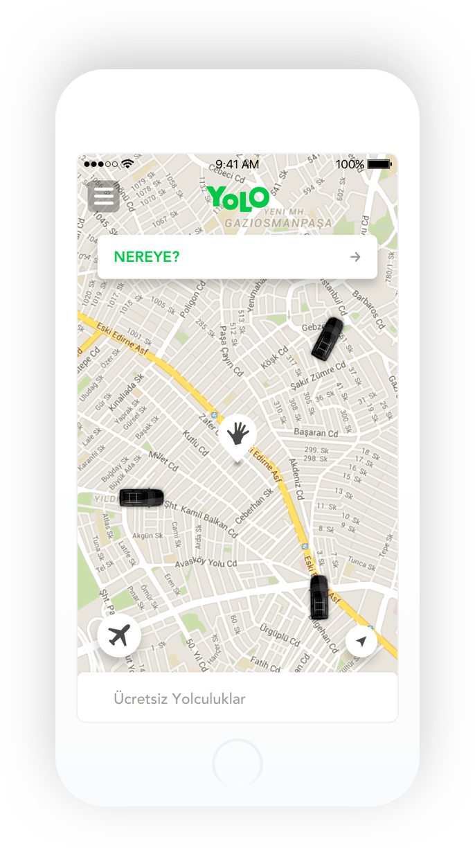 YOLO iOS map mockup